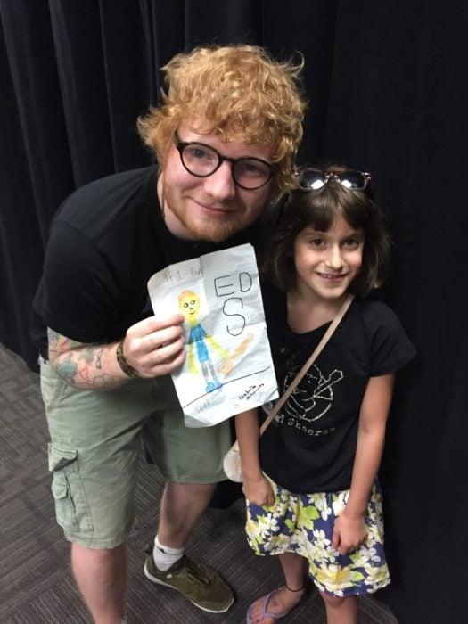Ed Sheeran y fan