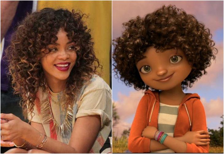 Rihanna como Tip en Home, película, Disney