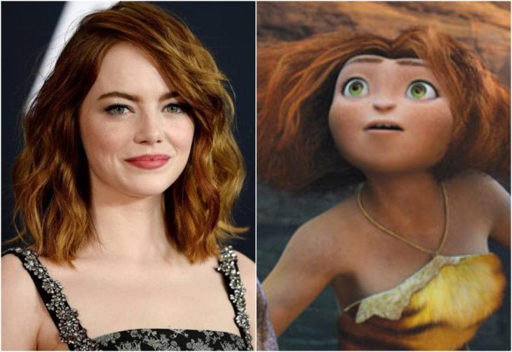 Emma Stone como Eep, Lo Croods. película, Disney
