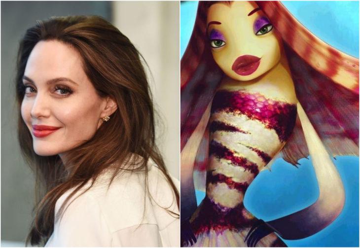 Angelina Jolie, Lola, El espantatiburones, películas, Disney