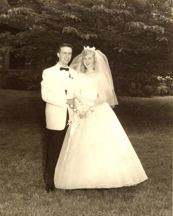George y Ginger Brown recién casados en 1959