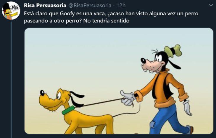 Twitter abre debate sobre si Goofy, personaje de Disney, es un perro o una vaca