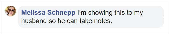 Comentarios en facebook sobre un hombre que hace el aseo en su casa