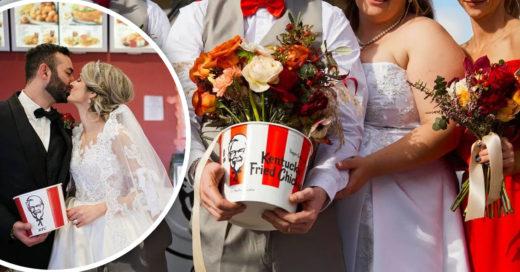 KFC ofrece a seis parejas una boda gratis con temática de pollo