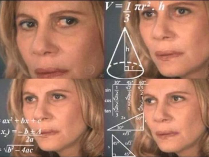 meme de la mujer calculando