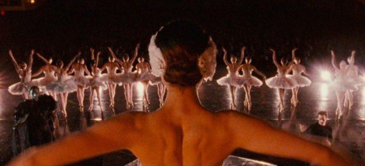 Natalie Portman en Black Swan durante el ensayo de ballet