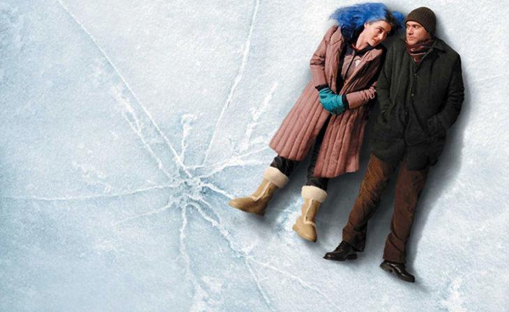 Escena de la película,Etern Sunshine of the Spotless Mind, Clementine en el hielo