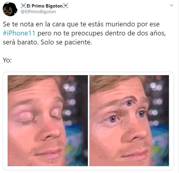 memes de Twitter que usuarios compartieron después de la presentación del nuevo iPhone 11