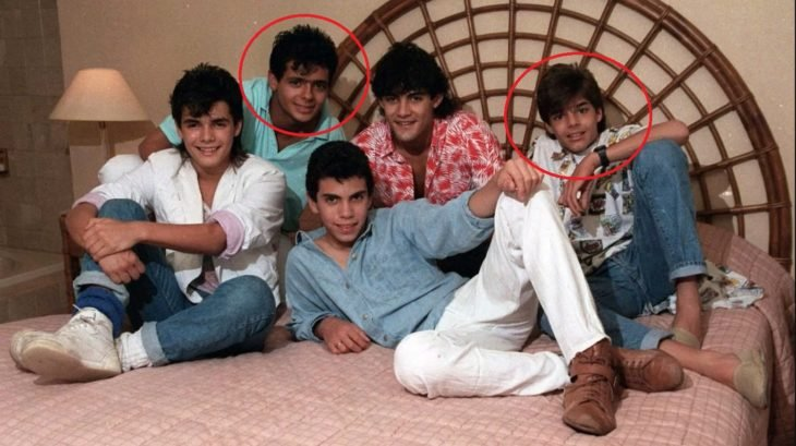 Ricky Martin y Draco Rosa como integrantes de la agrupación Menudo