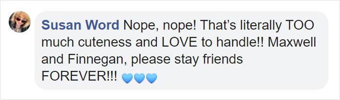 Comentarios en facebook sobre niños que corren y se abrazan