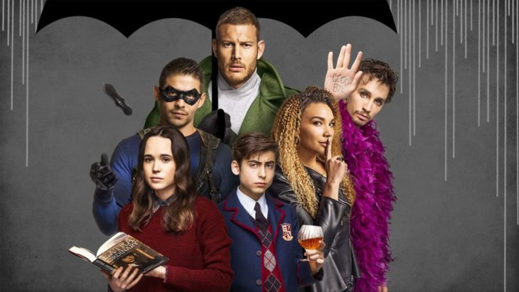 Elenco de la serie The Umbrella Academy, original de Netflix, cartel promocional