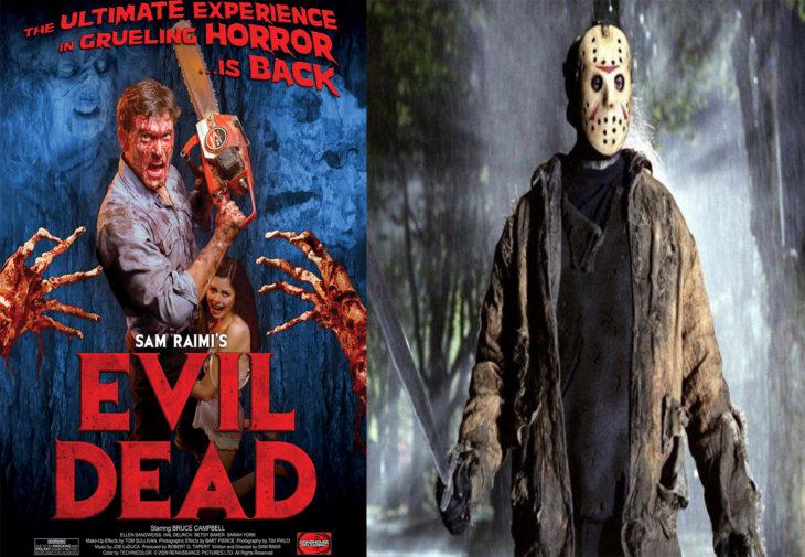 Posters de las películas evil dead y viernes 13