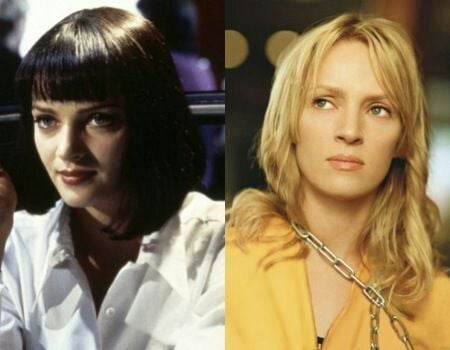 Mia Wallace de Pulp Fiction y La mamba negra de Kill Bill