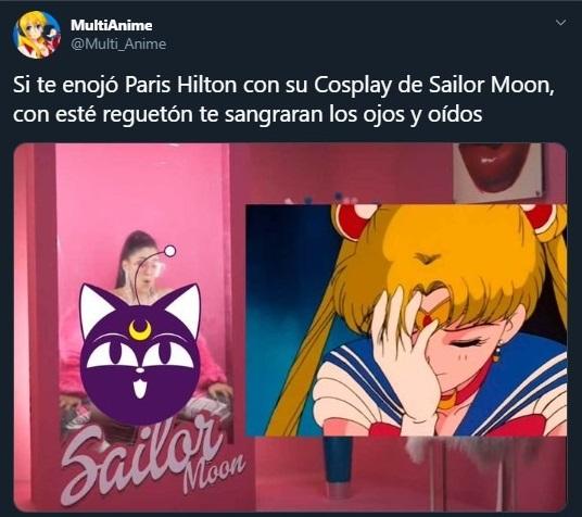 Tuit sobre la canción de reguetón de Sailor Moon