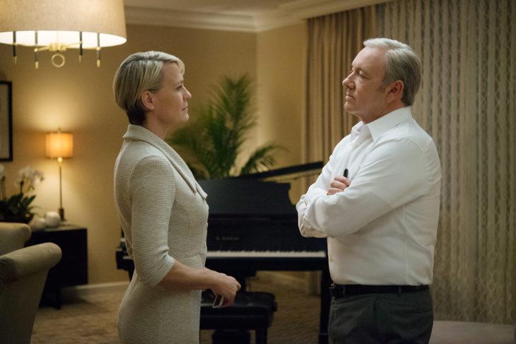 escena de la serie House of Cards donde está la pareja protagonista