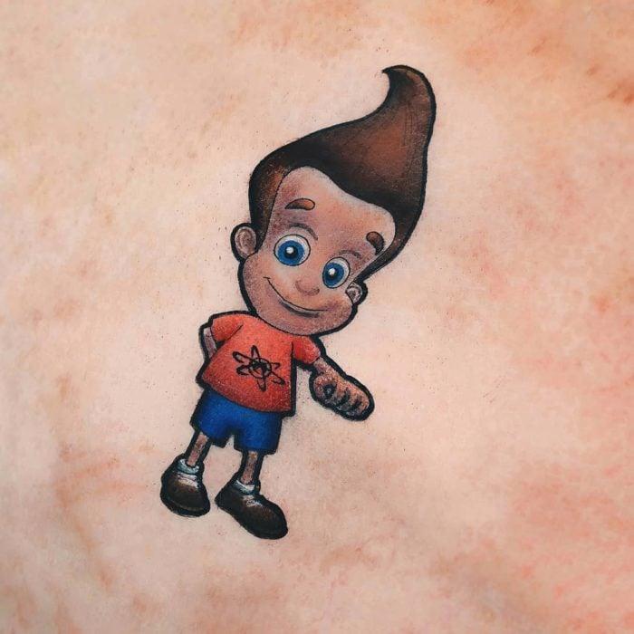 Tatuaje de la caricatura Jimmy Neutron