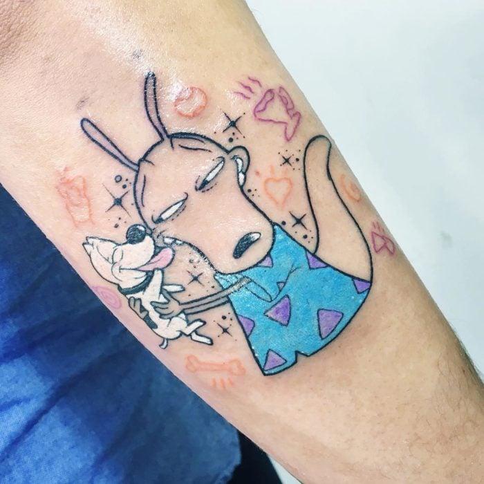 Tatuaje de la caricatura Rocko