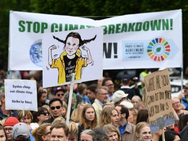 Protesta Global Strike For Future en Estocolmo
