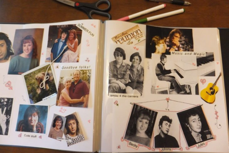 Álbum de fotos de los noventa