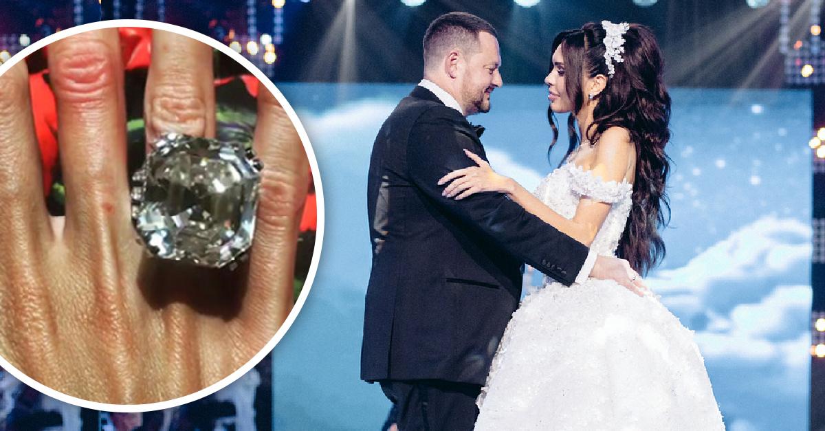 ¡Boda espectacular! Se casa novio que le dio a su prometida un anillo de 8 millones de dólares