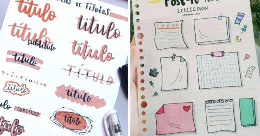 19 Bonitas ideas para que tus apuntes escolares sean la envidia de tu salón