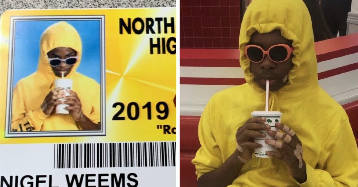 Estudiantes se disfrazan para la foto de su credencial escolar, ¡el resultado es divertidísimo!