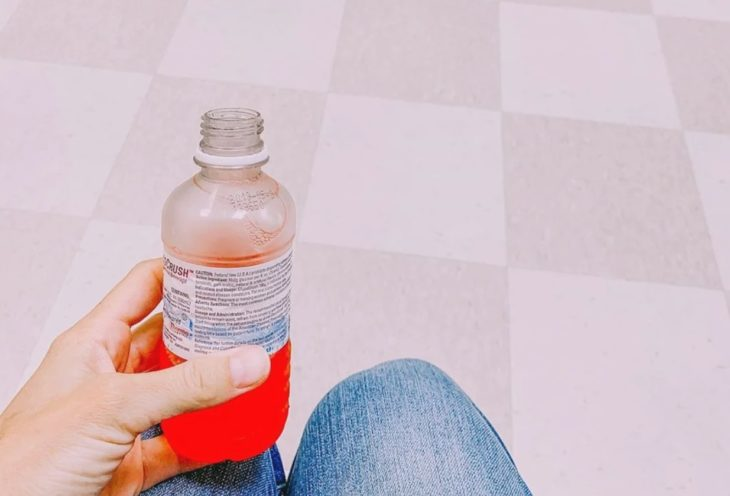 Embarazada en prueba de glucosa