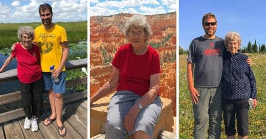 Al enterarse que su abuela no conocía el mar o las montañas, la invitó a iniciar un viaje que ha durado ¡tres años y medio!