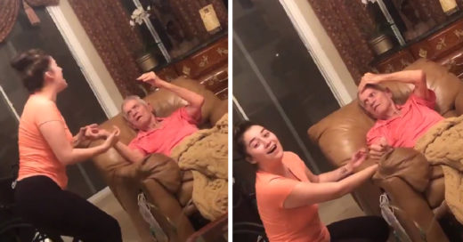 ¡Ternura al millón! Le canta a su abuelo con demencia y se vuelve viral