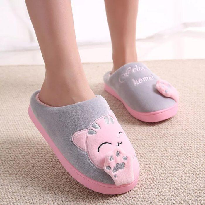 pantuflas de gato