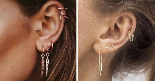 13 Piercings en la oreja para darle un toque atrevido y femenino a tu look