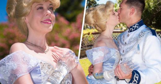 Luce un brazo de cristal en sesión de fotos como Cenicienta, se vuelve viral