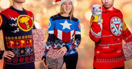 Lanzan línea de suéteres feos inspirados en superhéroes Marvel