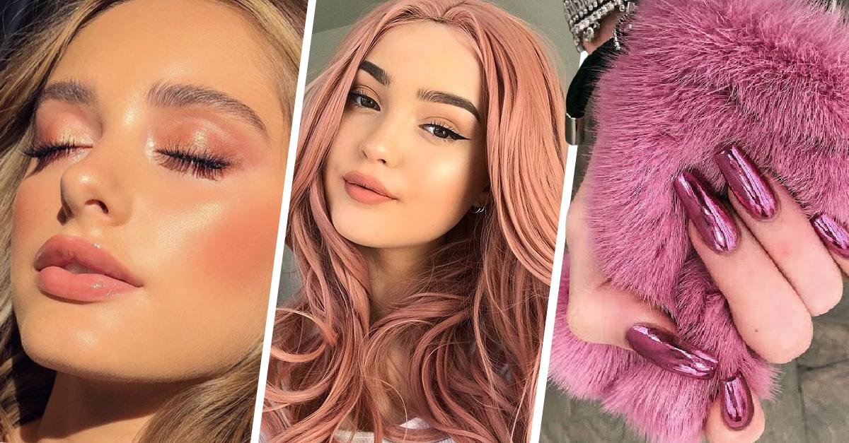 Maquillaje en rosa es tendencia este año