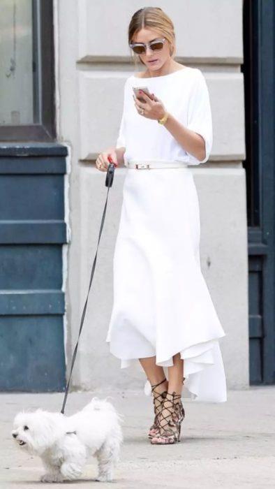 vestido con cinto