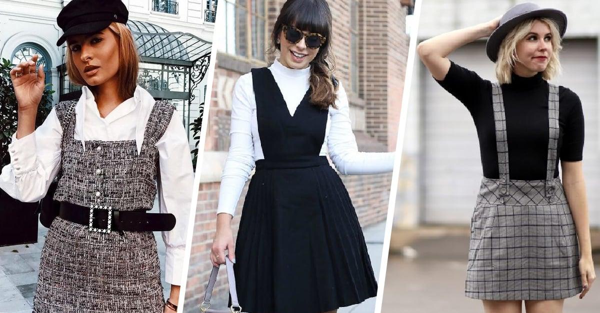 15 Maneras de usar un vestido pichi durante el otoño