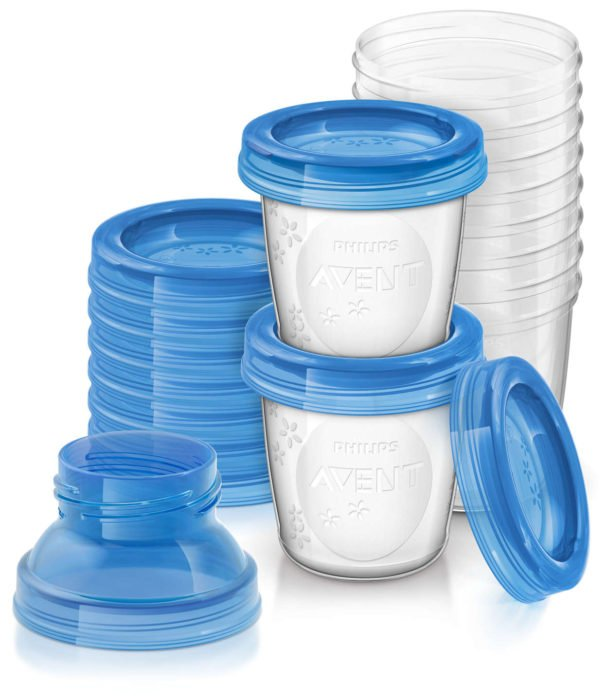 botes para almacenar leche materna