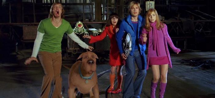 Escena de la película Scooby-Doo 2: Monstruos sueltos, misterio a la orden sorprendidos