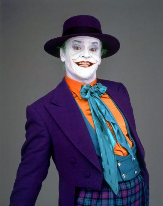 Jack Nicholson caracterizado como el guasón