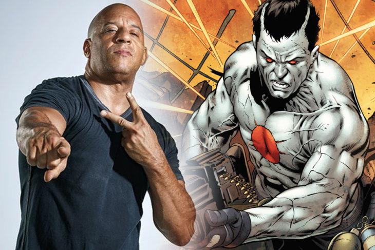 Vien Diesel haciendo señas, promocional película Bloodshot