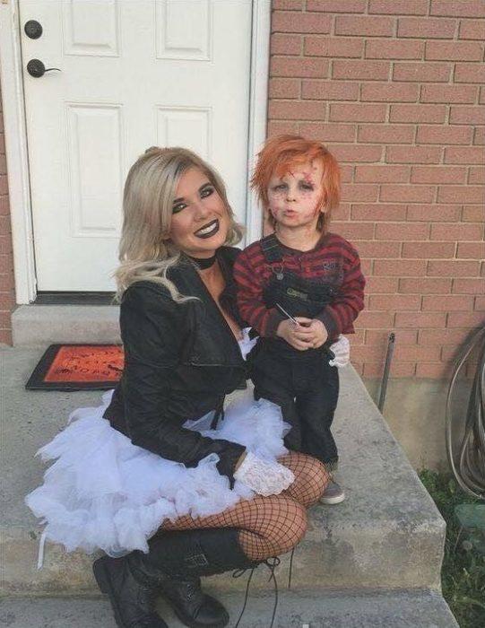 Chucky y su novia disfraz