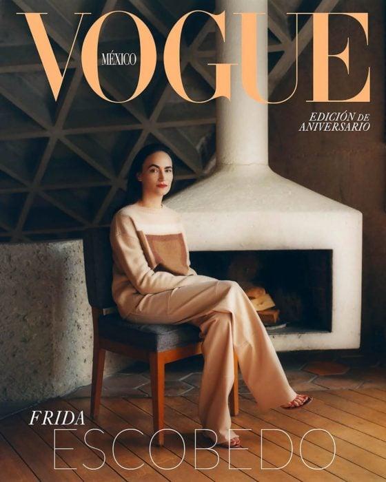 Portada de Vogue con la arquitecta Frida Escobedo