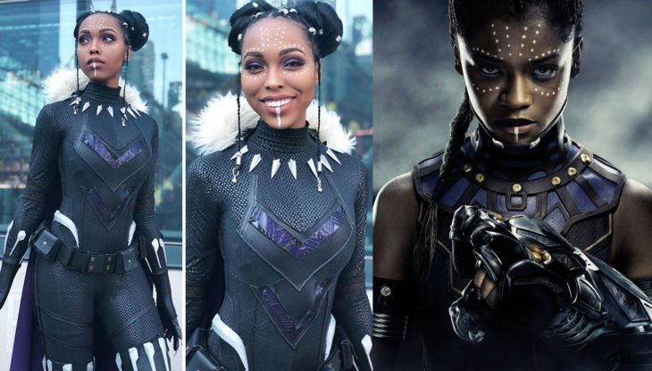 Cosplayer Jasmine James, disfrazada como Suri de Black Panter