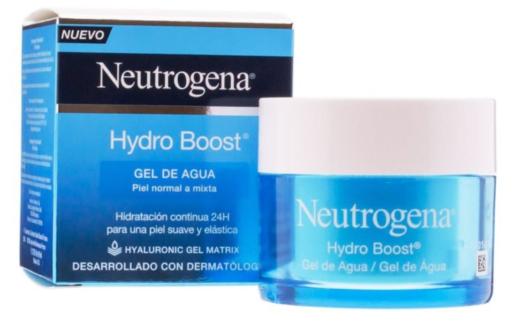 Crema hydro boost de neutrogena en color azul
