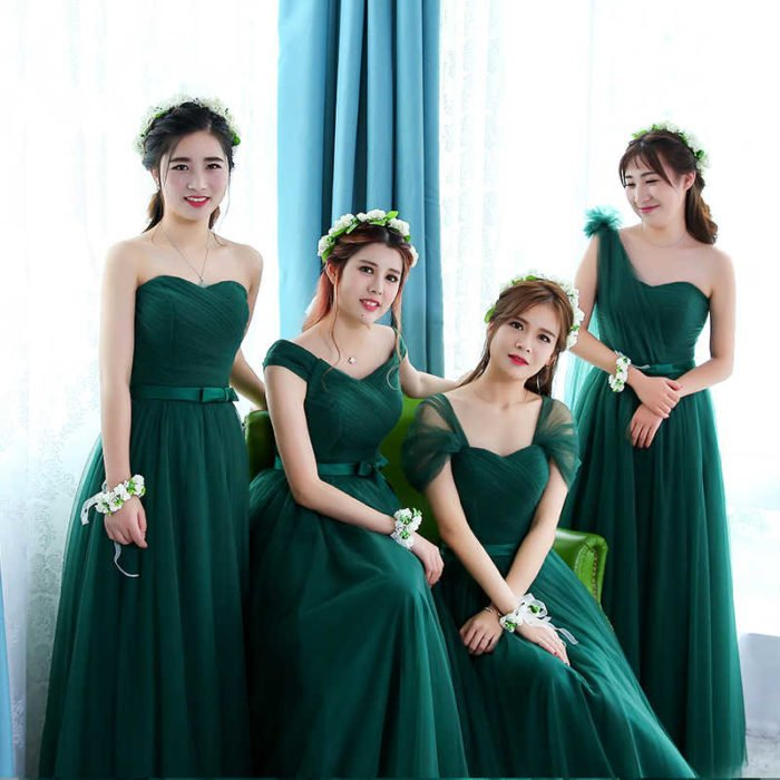 Damas de honor color verde