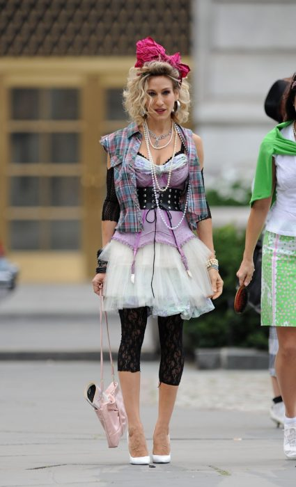 Disfraces de Halloween de los 80; Sarah Jessica Parker disfrazada de Madonna
