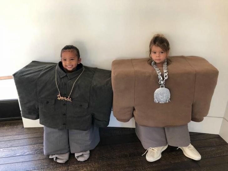 Hija de Kim y Kpurtney Kardashian disfrazados como kanye West