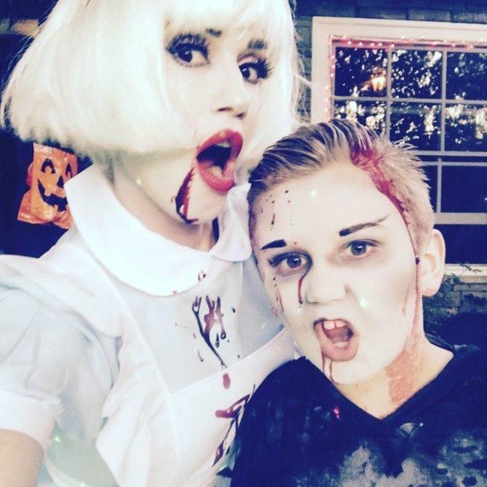 Hija de Gwen Stefani disfrazada como zombie al igual que su mamá