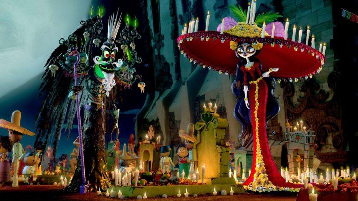 Película del Día de Muertos, El libro de la vida; Catrina y Xibalbá