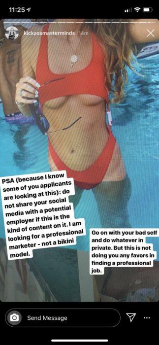 Emily Clow; chica busca empleo y empresa de marketing la expone por usar traje de baño